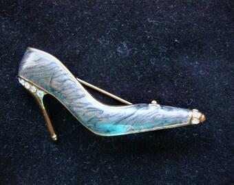 Gray Shoe Pin Brooch Free Shipping