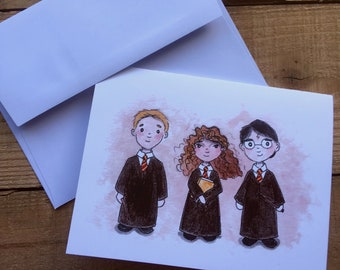 Hogwarts blank notecards - Harry Potter blank notecards