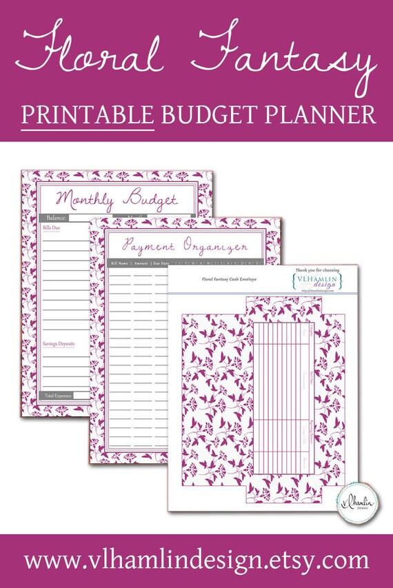 monthly budget organizer