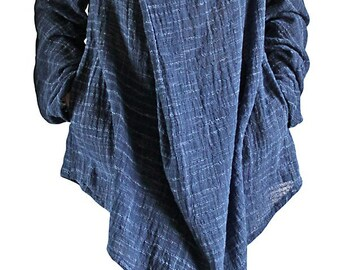 Hand Woven Cotton Nomad Tunic (BFS-097-04)