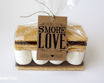 Wedding S'more Favor Tag - Rustic Personalized Printable S'more Love Wedding Favor Tag - PDF - DIY - AA2
