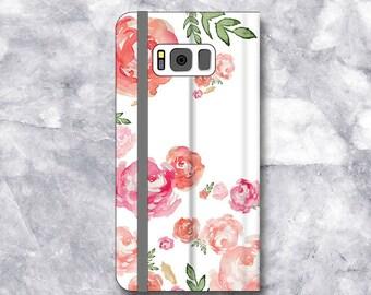 iPhone X Case Wallet, iPhone 7/ 7 Plus Case wallet, Galaxy S8 /S8 Plus Case Wallet, Womens ,  iphone se wallet case, girlfriend gift flowers