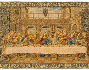 Last Supper Wall Art - Last Supper Tapestry Wall Hanging - Da Vinci Wall Decor - Religious Art - Last Supper Wall Hanging Tapestry