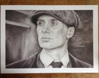 Peaky Blinders - Thomas Shelby Portrait  - Fine Art Print from an Original Drawing