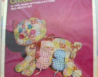 Bucilla Mama Mittens and Kittens stuffed toy kit