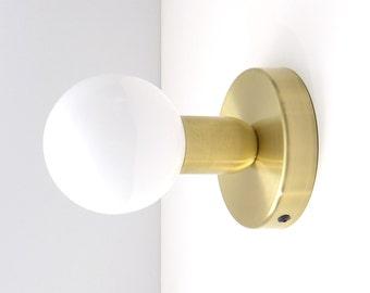 2 x Solid brass minimal modern wall lamp, Sconce lamp, Balance Lamp