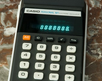 Casio Personal M-1 Electronic Calculator
