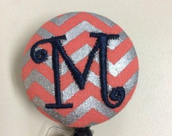 Personalized monogrammed custom retractable badge holder reel