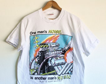 MEDIUM Vintage 1993 One Man's Noise, is another man's music Play It Again, Maestro! Neon T-Shirt