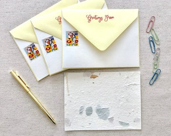 Greetings from the Dala Stationery | 4.25 x 5.625 Card with A2 Envelope