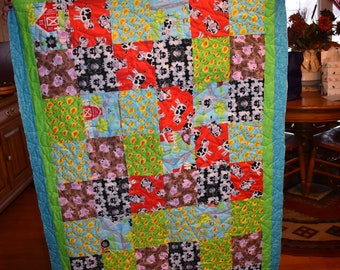 "BABY BLANKET ""Down on the Farm"""