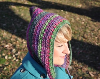 Woodland Pixie Hood: Instant Download Crochet Pattern