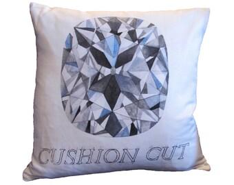 Cushion Cut Diamond Pillow