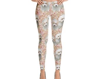 Coton de Tulear and Bubbles Leggings
