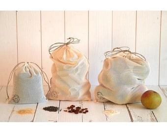 bag in bulk lot of 3 organic cotton voile