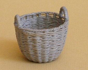 Dollhouse miniature, Wicker storage basket, scale 1 : 12, WC/310