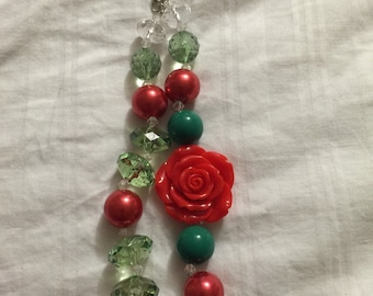 Flower chunky bead necklace