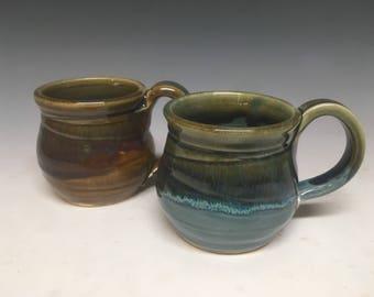 8oz Layered glazeware round mug
