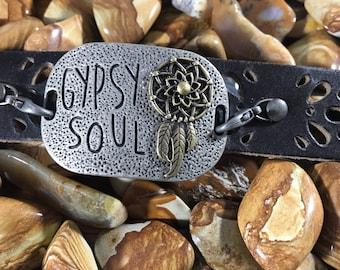 Gypsy Soul Leather Cuff Bracelet
