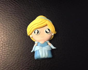 Miniature Polymer Clay Cinderelle Inspired Figurine