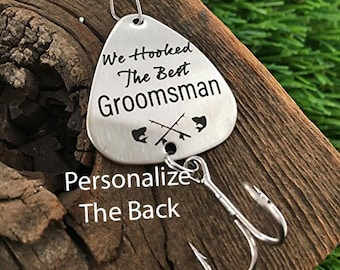 Groomsmen Gift We Hooked The Best Groomsmen Fishing Lure Gift Wedding Gift Fishing Lure Gift for Parent Gift For Fisherman Groomsmen Lure