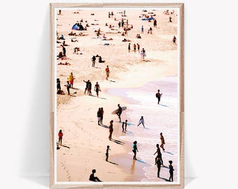 Beach People Photo,Aerial Beach Print,Ocean Beach Poster,Modern Beach Poster,People,Beach Prints,Coastal Large Poster,Aerial Beach,Beach