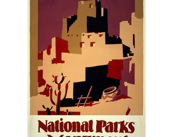 Pueblos Southwest National Parks Wall Decal #44840