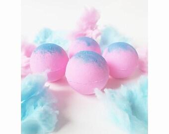 Cotton Candy Bath Bomb ~ Sweet, Glitter, Coconut Milk, Moisturizing, Pink Bath Bombs, Bath Fizzy, Gift, Mothers Day