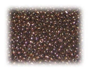 11/0 Copper Metallic Glass Seed Beads, 1 oz. bag