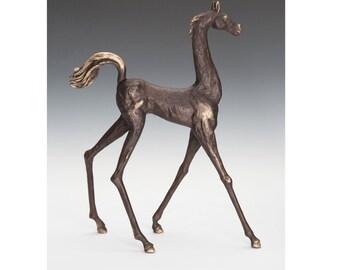 Stylized Mare (short neck) bronze sculpture