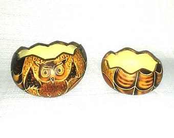 Vintage Gourd Bowl Set Handmade Handcrafted Best Selling Home Decor Kitchen Items 60s 70s 80s 90s