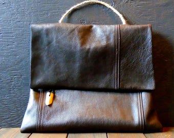 Repurposed Leather Handbag