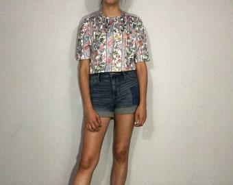 1970s floral shirt