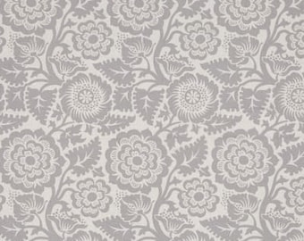 54087- Joel Dewberry Modernist collection  Blockprint blossom in smoke color - 1/2  yard