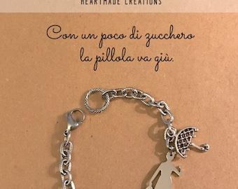 Stainless steel bracelet Mary Poppins