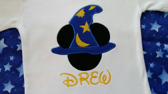 mickey mouse wizard applique t shirt hollywood studios