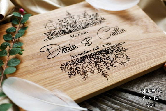Unique Handmade Wedding Gifts: Personalized Cutting Board Wedding Gift Custom Wedding Gift