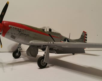 "P-51D Mustang -""Tornado"" 1948 Japan-  1/48 scale- Built Plastic Scale Model"