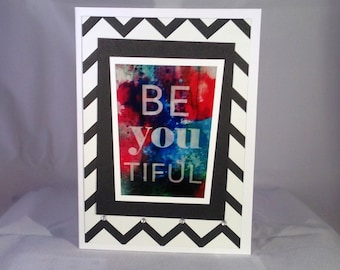 Set of 5 BE you tiful LIMITED EDITION Encouragement Card