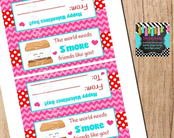 Valentine S'MORES bag toppers  - You Print