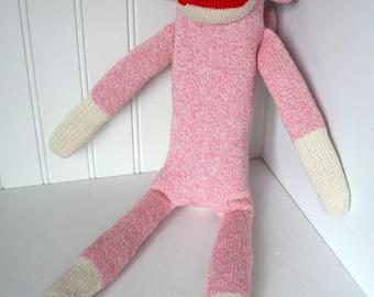 Pink Sock Monkey - Traditional Rockford Red Heel Socks