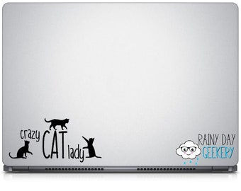 Crazy Cat Lady Decal - Crazy Cat Lady Vinyl Decal, Crazy Cat Lady Gift, Crazy Cat Lady DIY Gift, Cat Lover Gift, Cat Gift