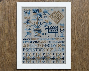 The Deer Sampler - Cross Stitch Embroidery Pattern - Instant Download PDF Booklet