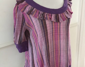 1970s vintage Original cheesecloth smock blouse