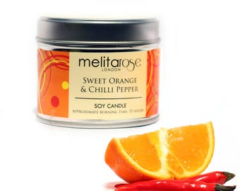 Sweet Orange & Chilli Pepper Soy Scented Candle Tin