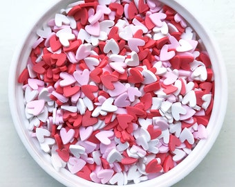 Heart Fake Sprinkles Confetti Polymer Clay Decoden Decoration for Slime and Crafts
