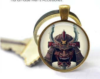 ANCIENT SAMURAI • Japanese Samurai • Japanese Warrior • Martial Arts • Key Ring • Key Chain • Gift Under 20 • Made in Australia (K110)