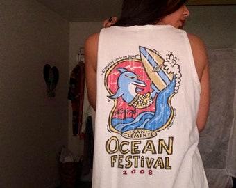 Vintage Retro Beach Festival Tank
