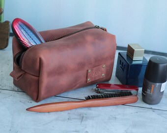 Leather Toiletry Bag, Mens Toiletry Bag, Wedding Gifts, Leather Dopp Kit, Leather Shaving Kit,