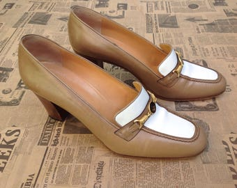 Made in Italy | 90s loafers high Heels | Linear Vintage Shoes | Vintage Shoes | 90s vintage loafers | 90s leather shoes | Italian loafers